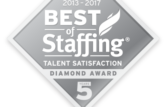 We Won Again! Best of Staffing Talent Diamond Award 2013 – 2017