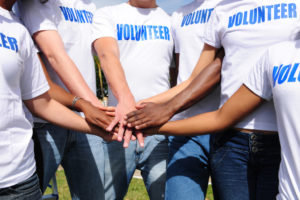 Volunteer event staff